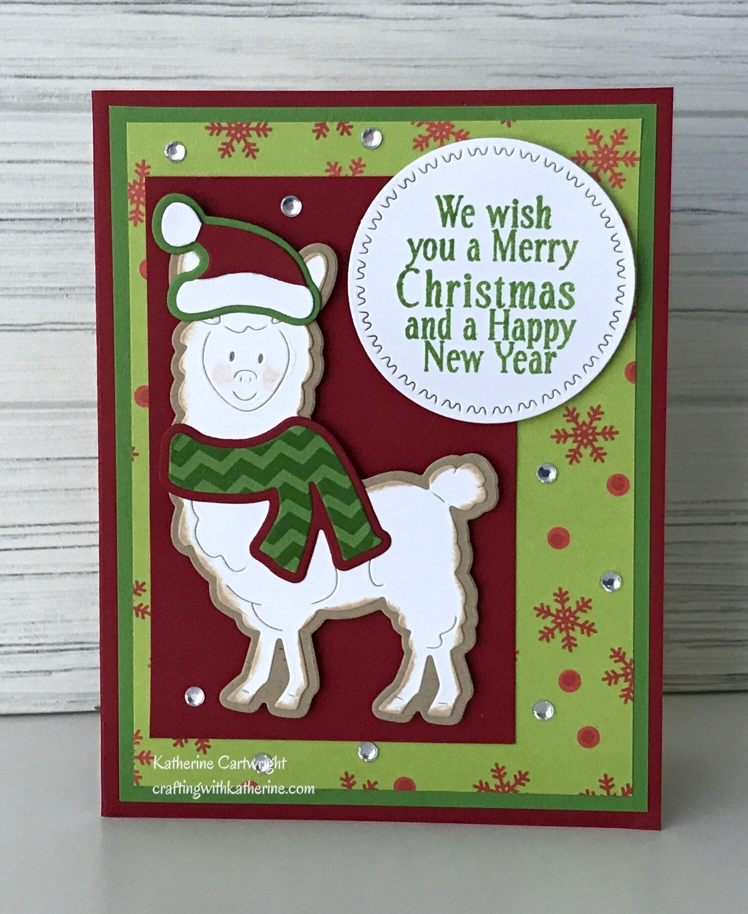 Read more about the article Handmade Card: Llama2stamp Christmas