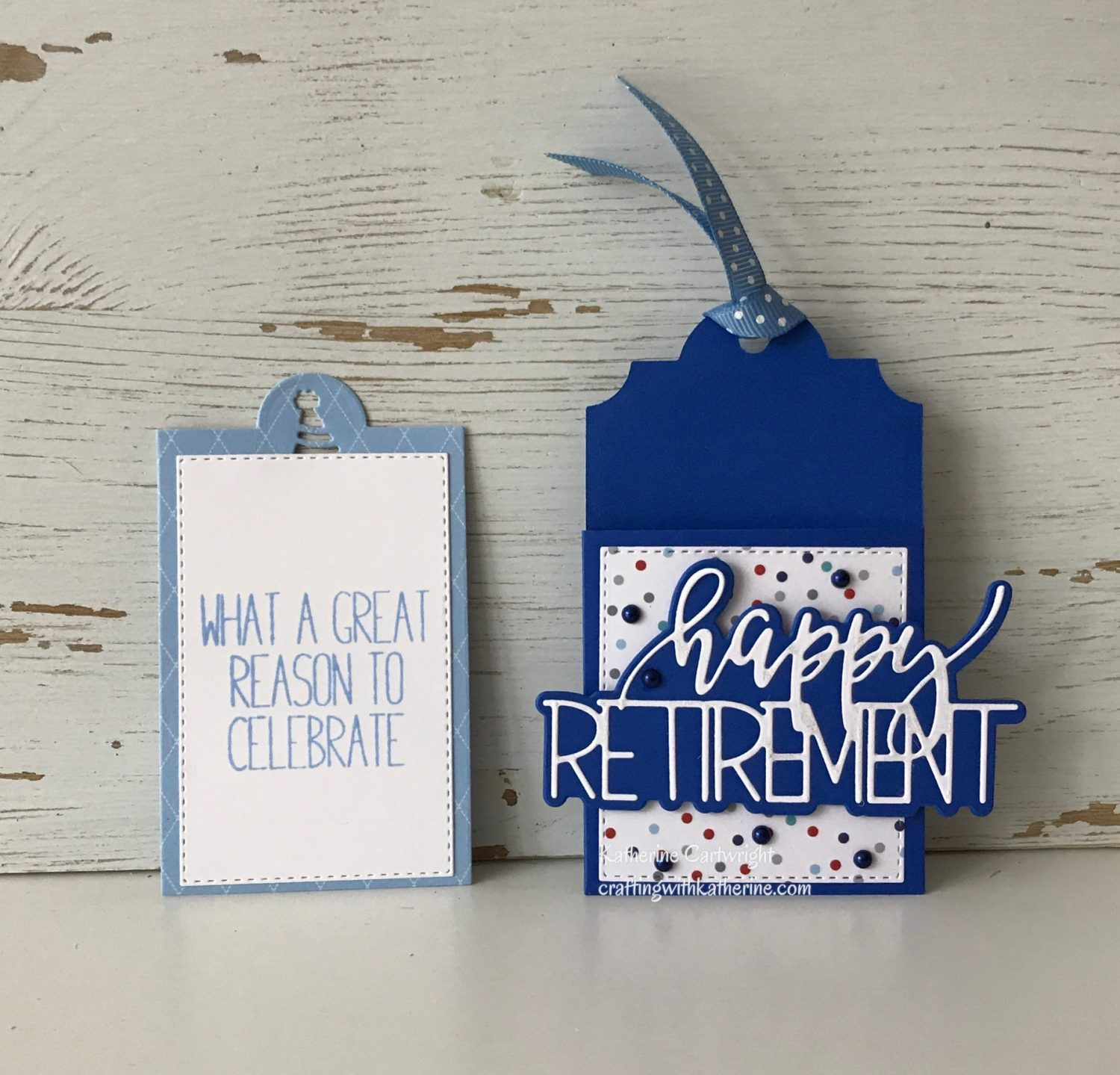Handmade Happy Retirement Tag