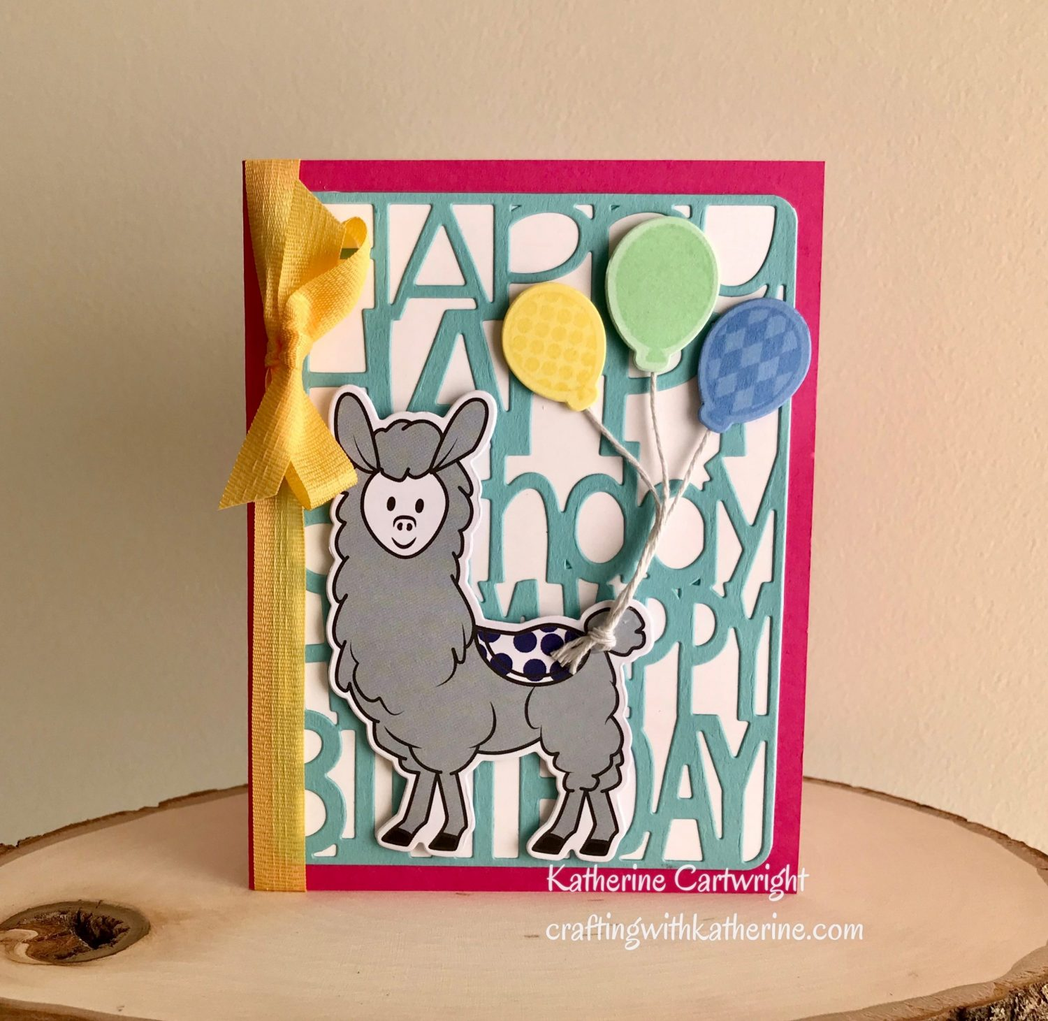 Handmade Card: Llama2stamp Happy Birthday