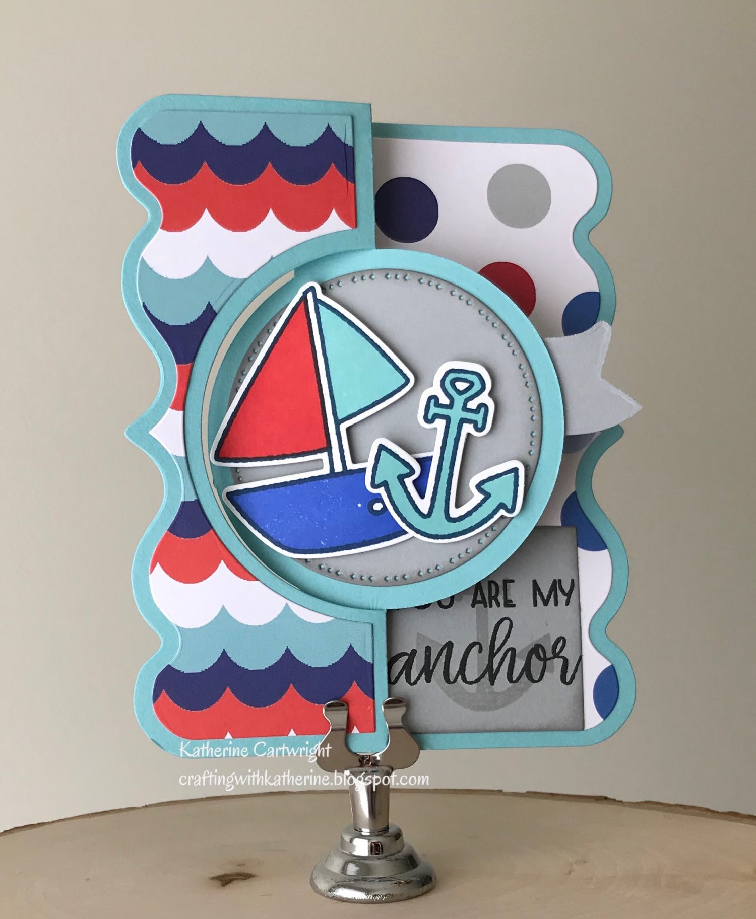 Handmade Card: Sailboat2stamp and Double Banner