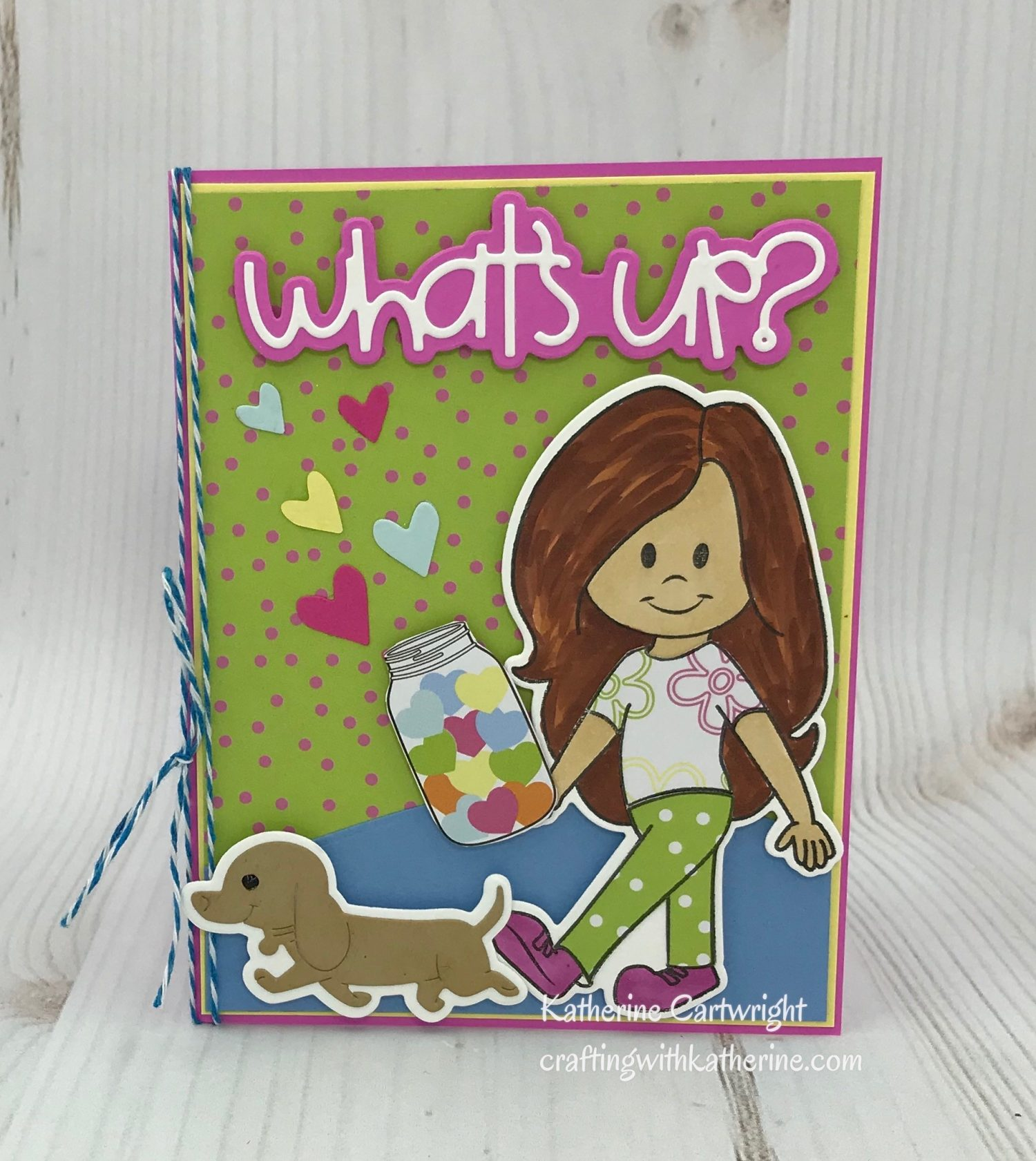 Handmade Card: Stephie Doll What's Up