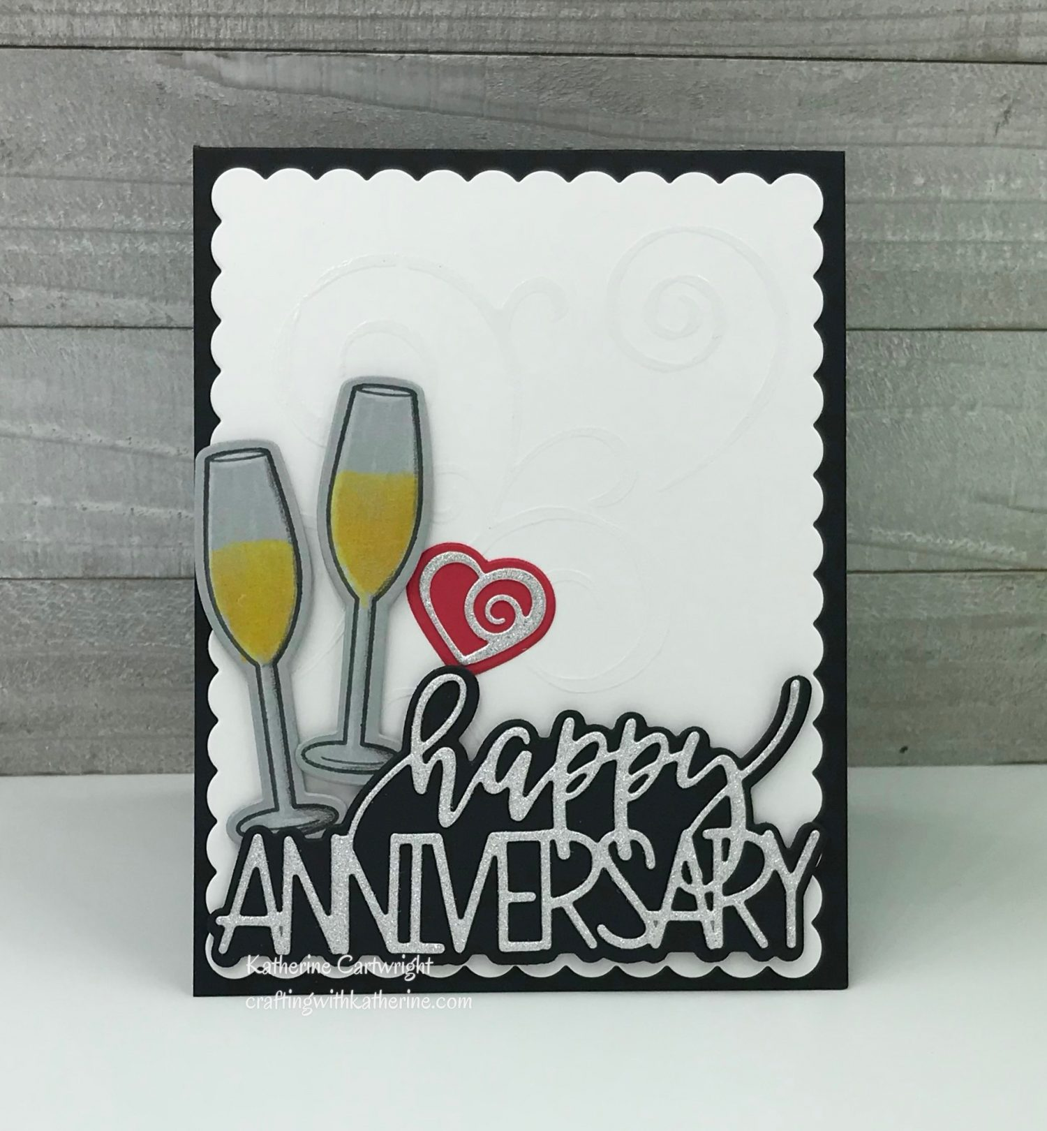 Trendy Happy Anniversary featuring The Stamps of Life