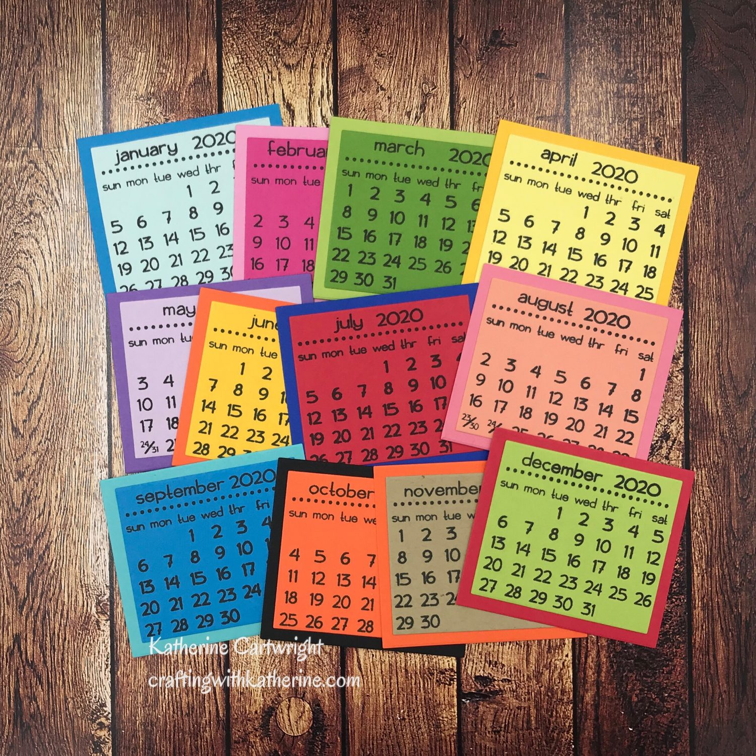 Calendar Stamp set from The Stamps of Life