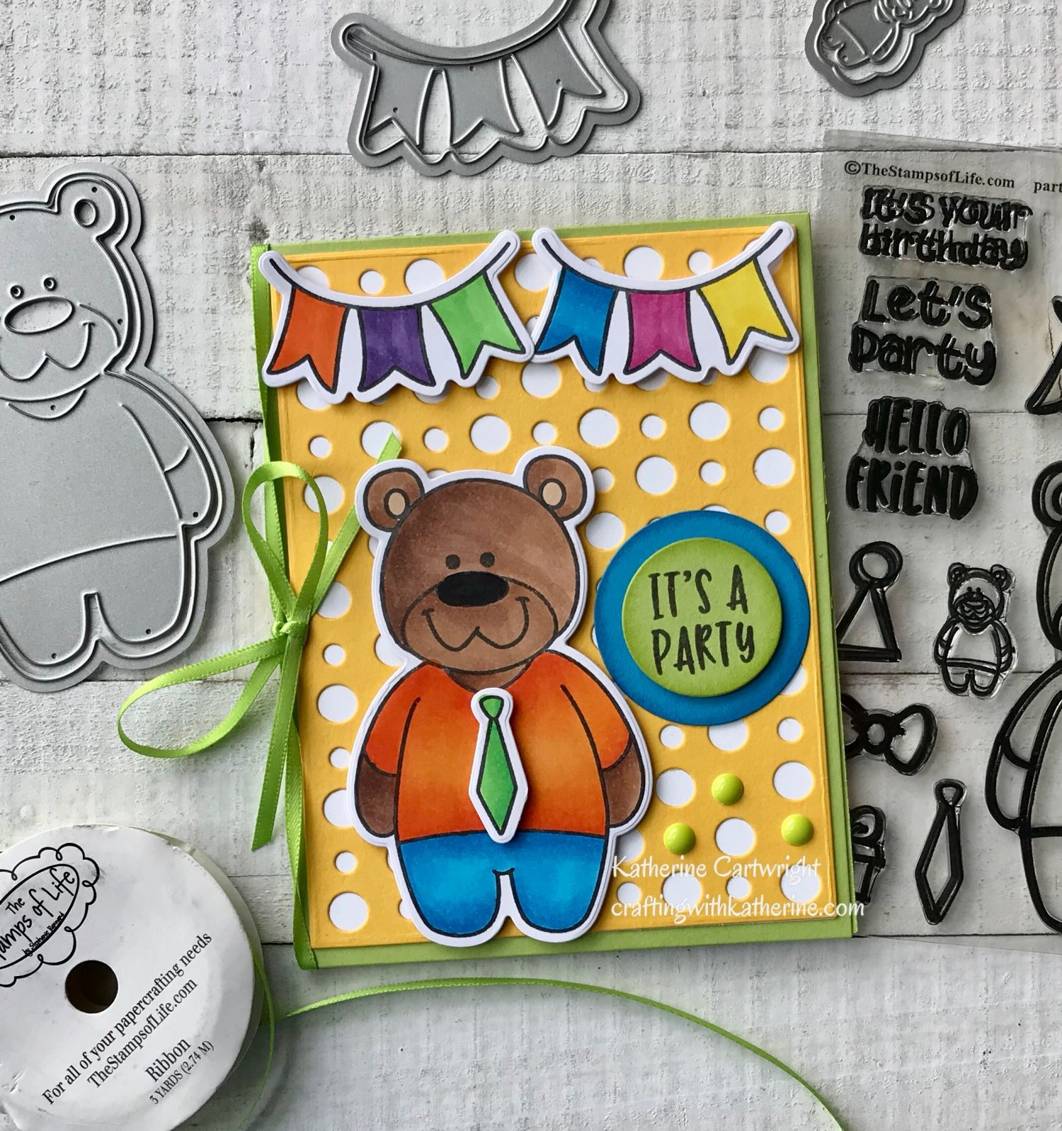 Party Bear from The Stamps of Life
