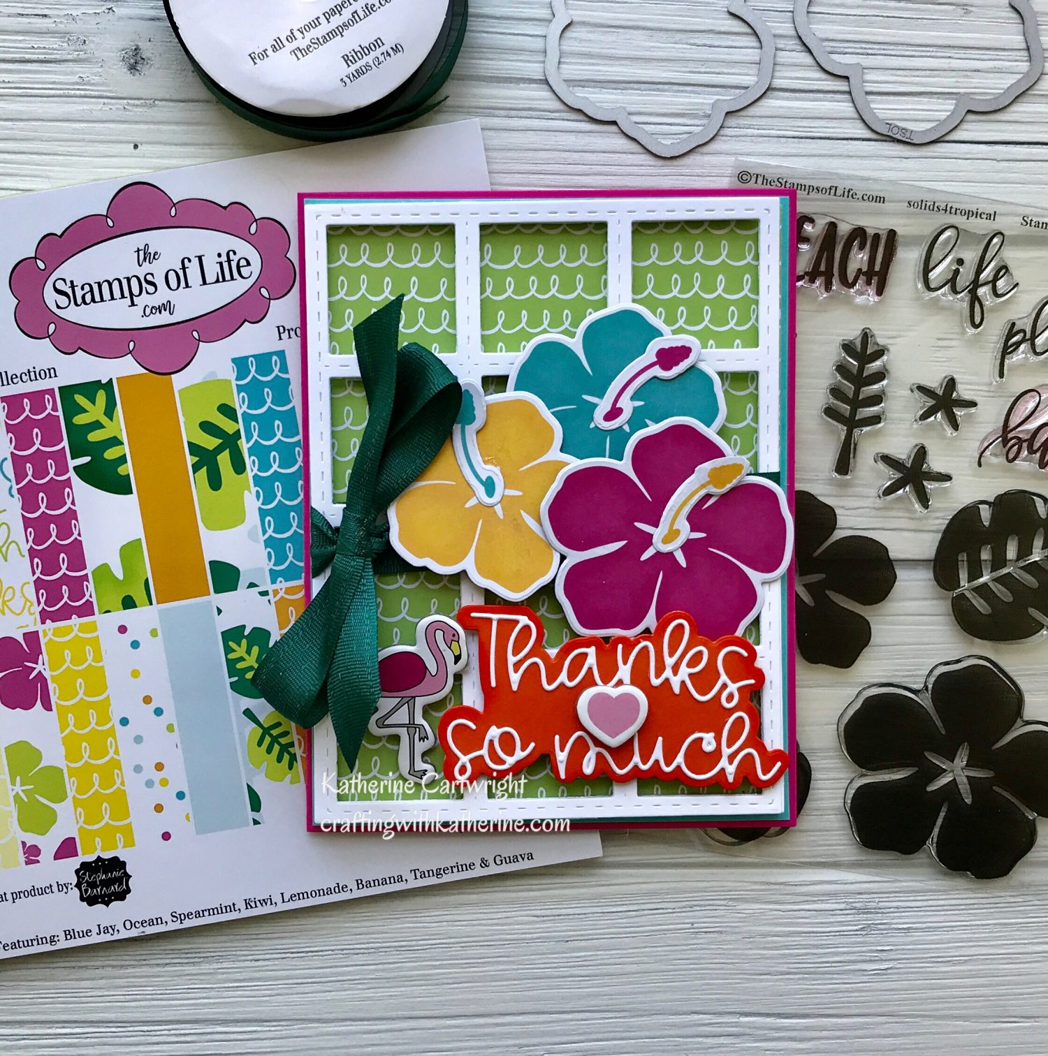 August Card kit from The Stamps of Life – Thanks so Much