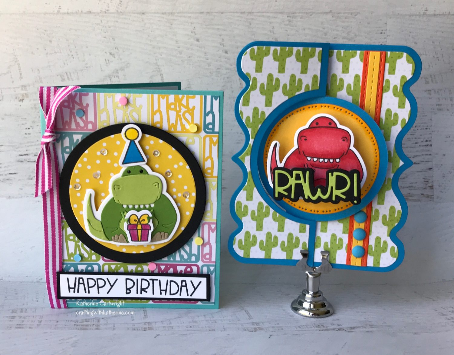 Dino Pudgie and Lotsofbirthday2stamp featuring The Stamps of Life