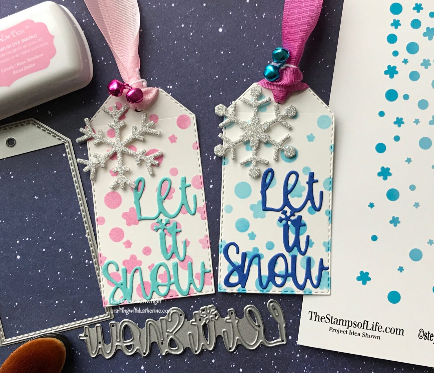 Let it Snow Stitched Gift Tag