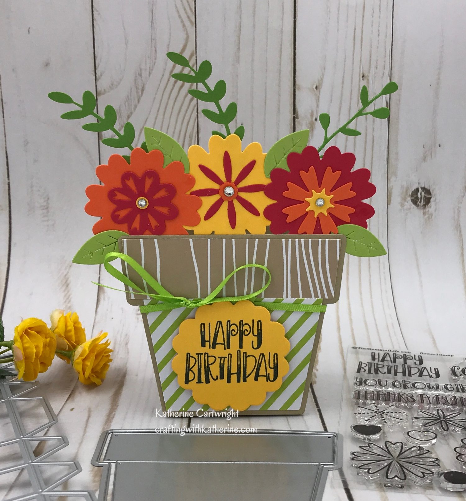 Flower Fold-it Box-it featuring The Stamps of Life