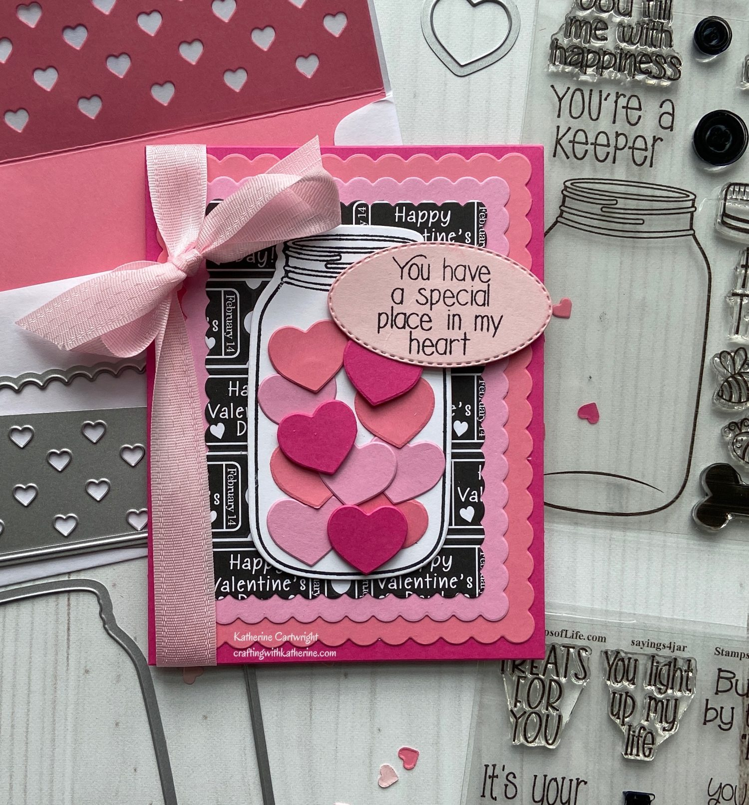 Jar2stamp Heart Card featuring The Stamps of Life
