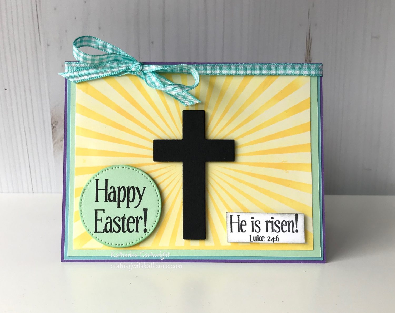 Handmade Card: Sunburst2stamp and Easter4Him
