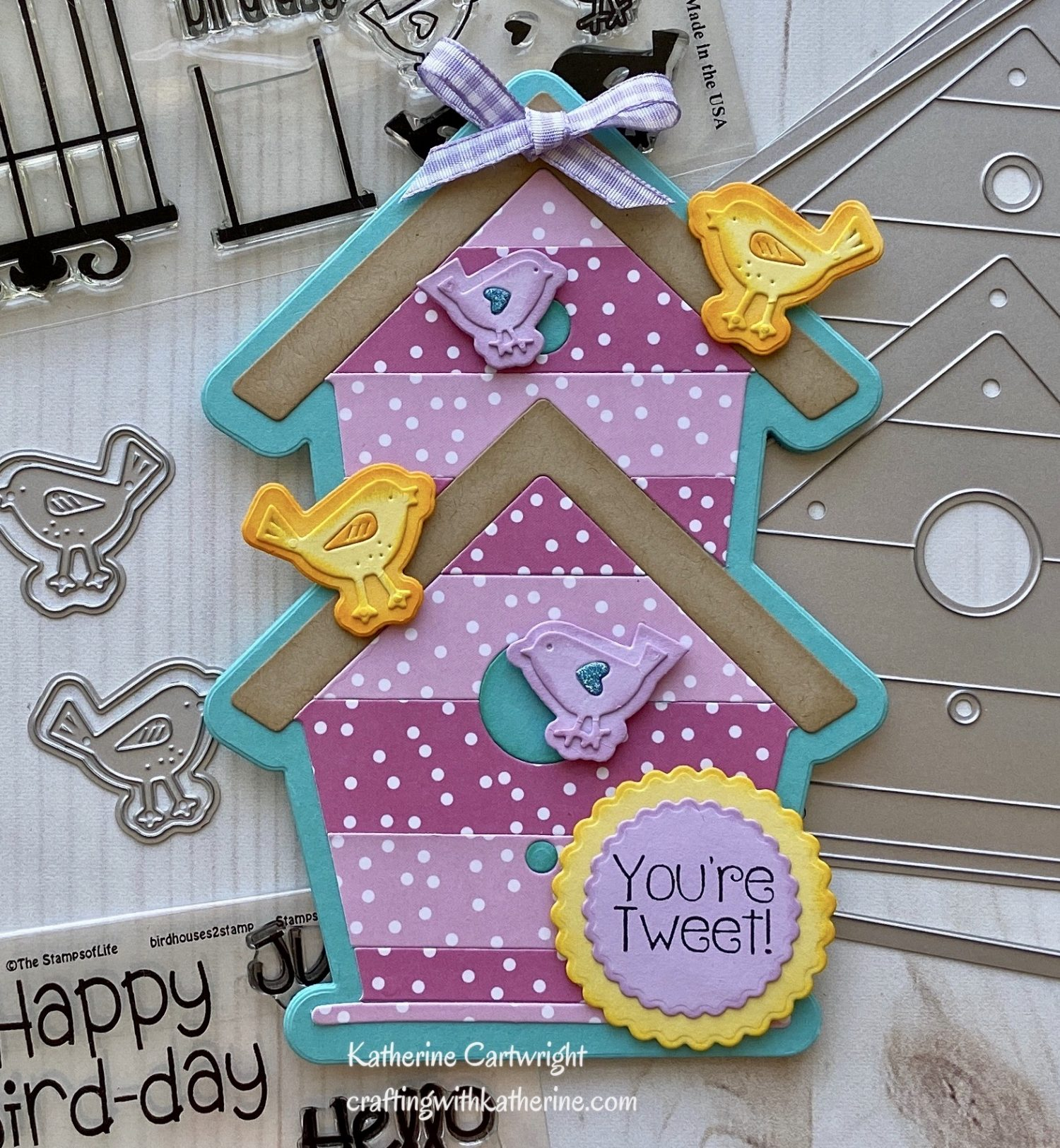 Handmade Card: Birdhouse Fold it