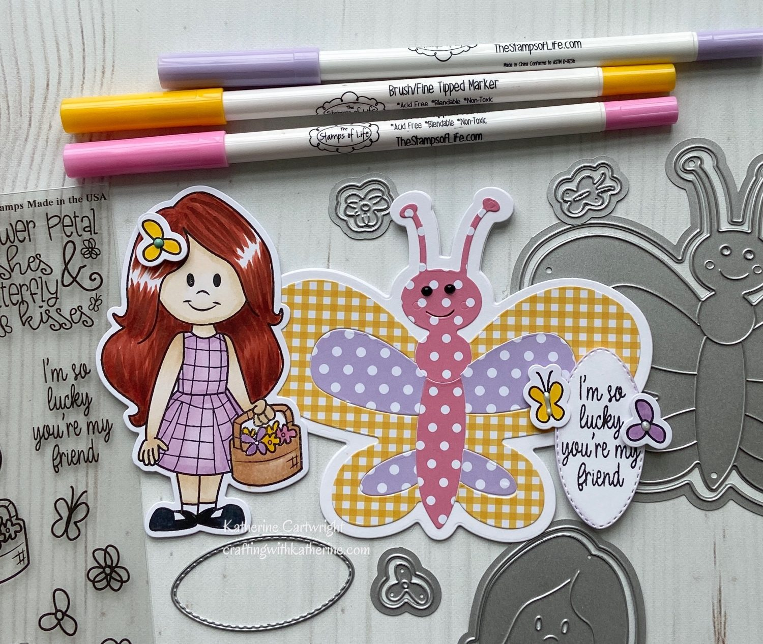 Handmade Card: Butterfly Fold it and Stephie Doll3