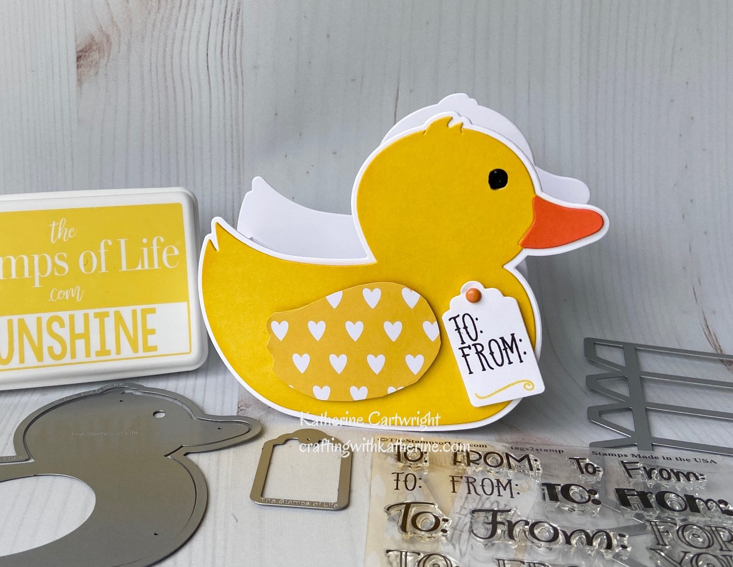 Handmade Gift Box: Rubber Duckie Fold it