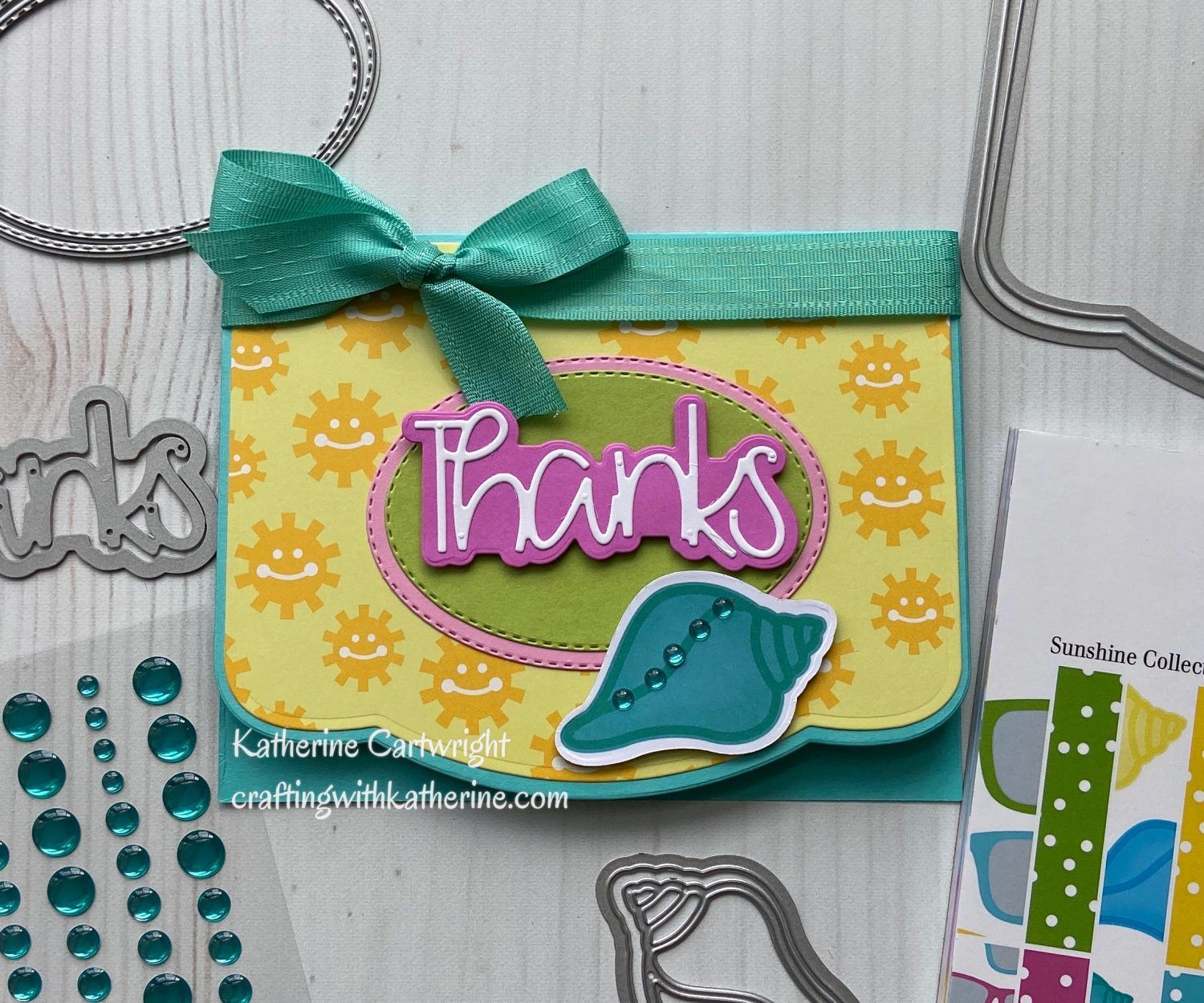 Handmade Card and Video: Thanks Elegant Edge Card