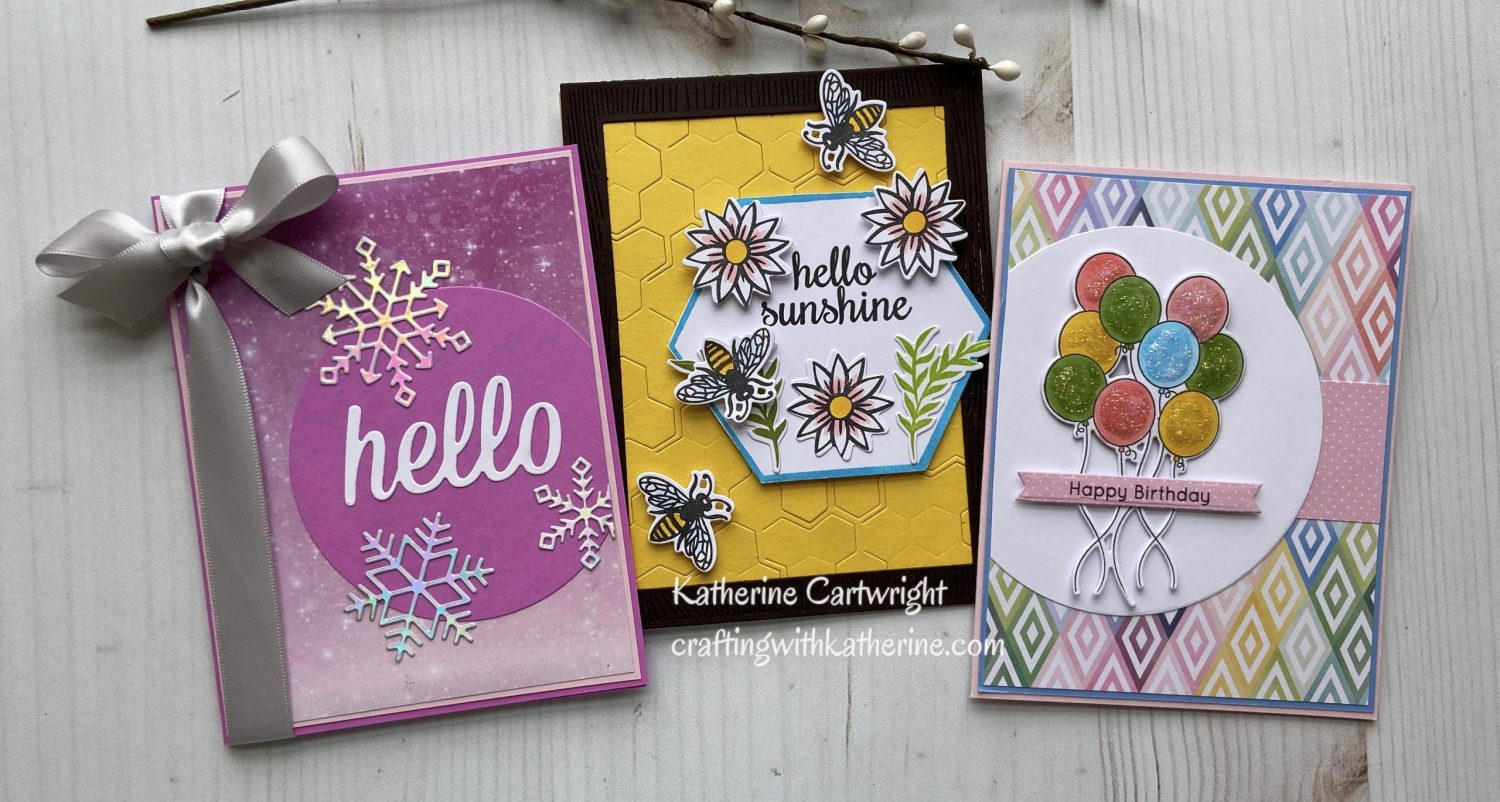 3 Cards | MFT Stamps Wednesday Sketch Challenge 529