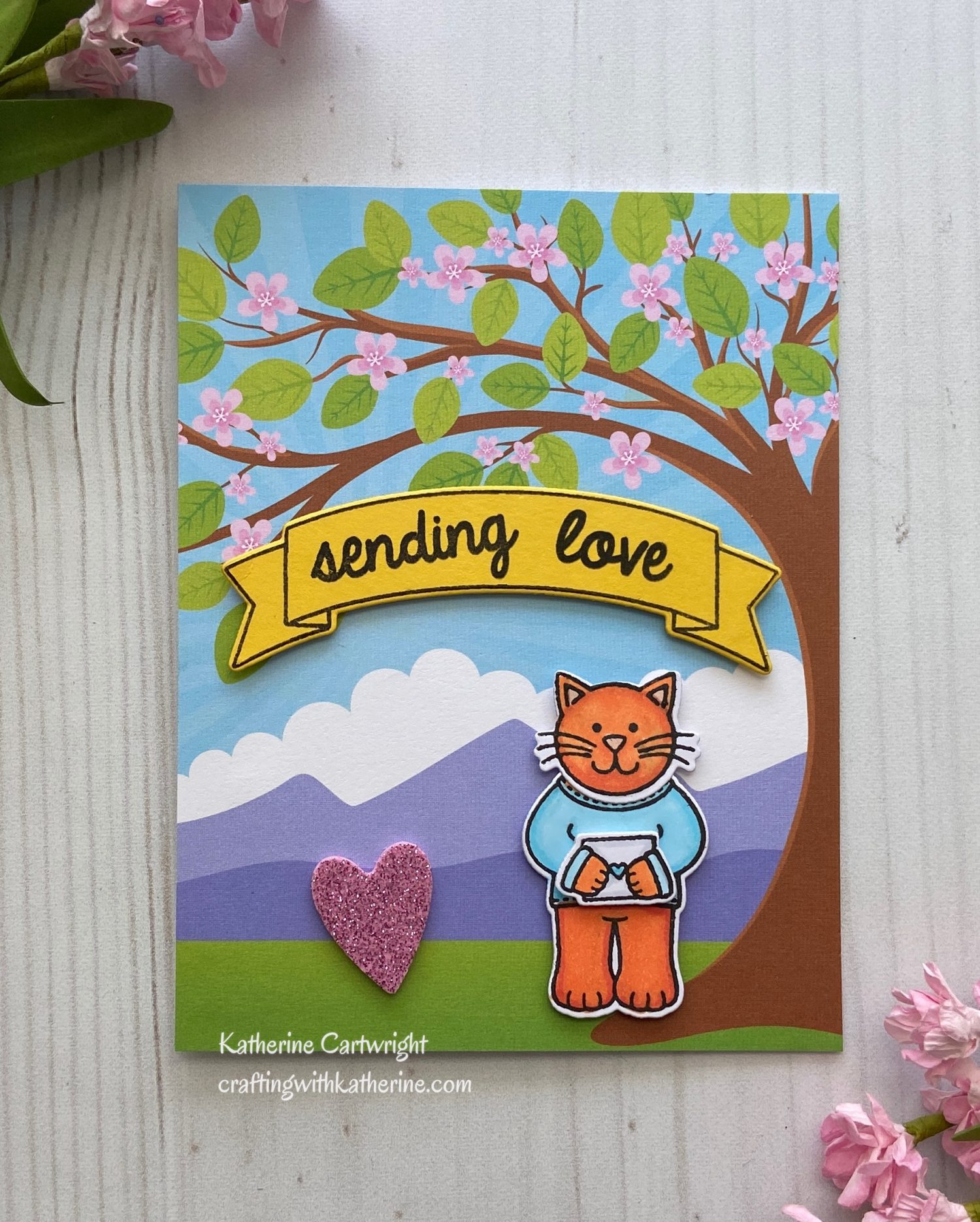 Sunny Studio Stamps Paper Pads Review + Sending Love Card