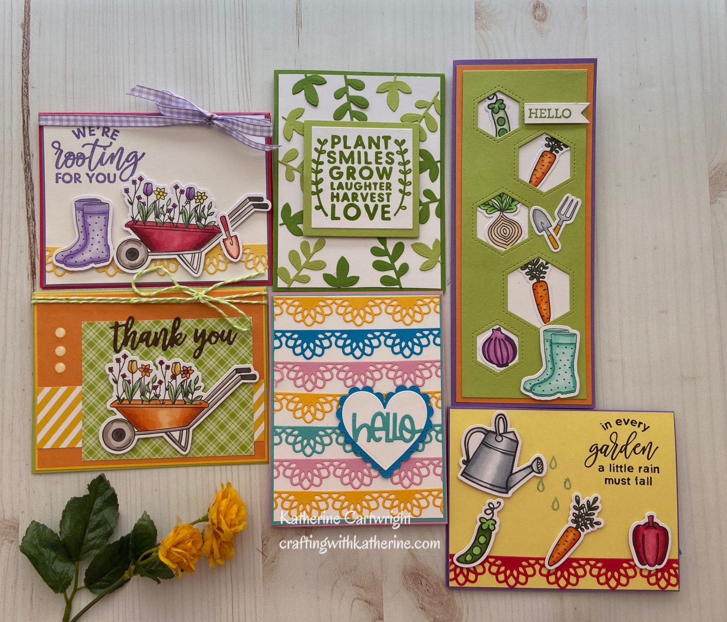 6 Cards – 1 Kit Diamond Press Grown with Love Kit