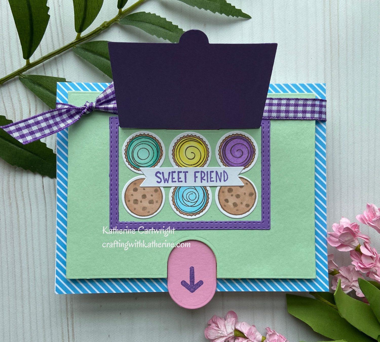 2 Cards – 1 Kit Diamond Press Treat Box Hidden Messages Auto ship #2