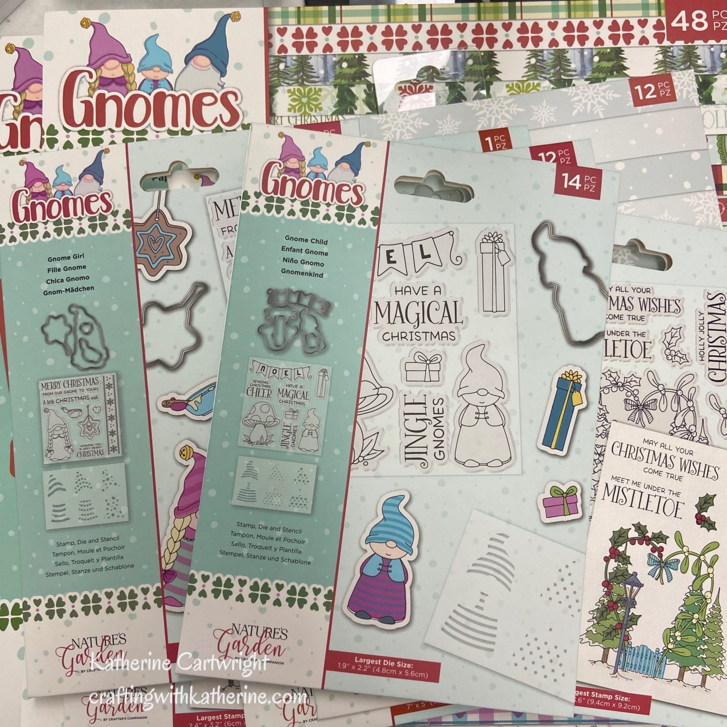 Read more about the article Craft Haul Flip-Thru video | Crafter's Companion Gnomes Nature's Garden Collection