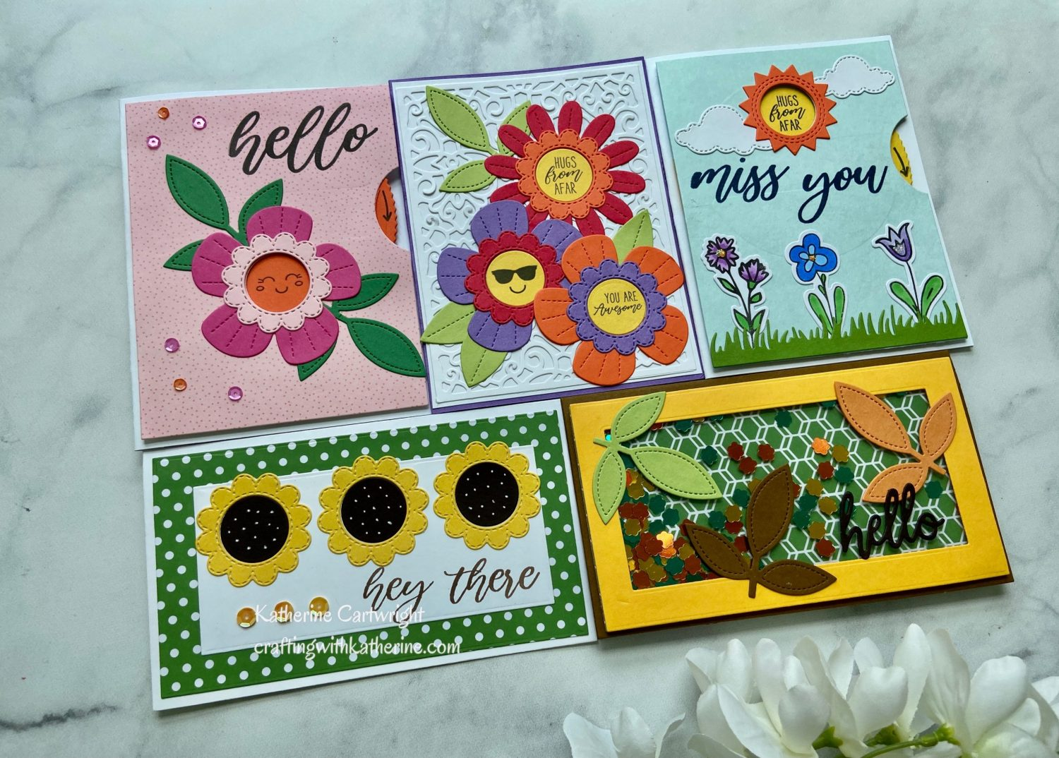 Read more about the article 5 Cards | 1 Kit Diamond Press Interactive Wheel Autoship Hello & Miss You